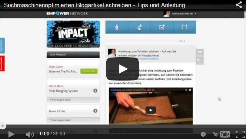 Wie Sie einen suchmaschinenoptimierten Blogartikel schreiben [Videoanleitung]