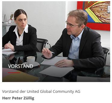 Vorstand Global Community AG Peter Züllig